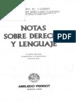 Notas Sobre Derecho y Lenguaje - Carrió