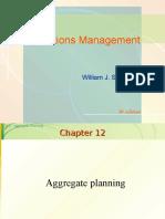 OM - Aggregate Planning
