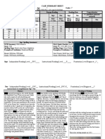 pre and post case summary sheet for br