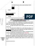 Original Complaint to Enforce Agreement Filed by Judith Chamberlain