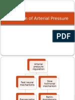 Regulation of arterial blood pressure