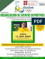 Seminario Organización de Eventos Deportivos