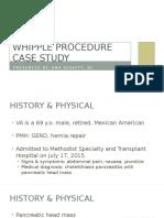 whipple procedure case study presentation