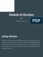elements of literature presentation - 2