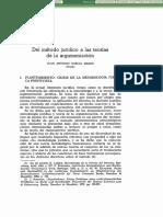 Metodo Juridico A Las Teorias De La Argumentacion