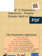 Possessive Adjectives - Verb to be