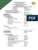 2016  CALENDARIZACION  ASEACES