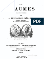 14423289 Les Psaumes Trad Ben Baruch