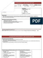 classroom management plan template