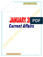January 2013 Current Affairs - Part I