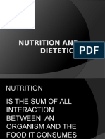 Nutrition and Dietetics-lecture
