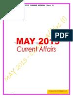 May 2013 Current Affairs - I