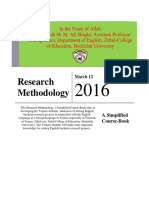 Simplified Course Book of Research Methodology 4thYE by Dr Shaghi 2015 2016