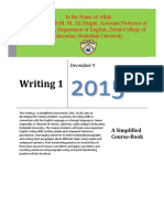 Writing 1 Simplified Course Book by Dr Shaghi 2015-2016