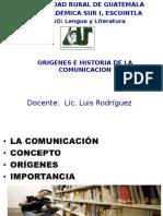 Origenes e Historia de La Comunicacion-1