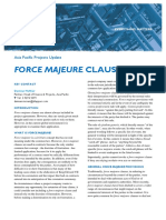 Force Majeure Clauses