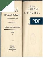 Fontes Hispaniae antiquae. Vol. IV pp. 122-141 . PDF