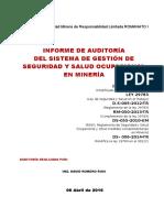 Informe Auditoria Sst 2016 -s.m.r.l. Romanato