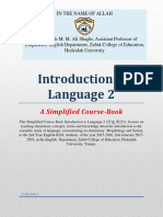 Simplified Coursebook of Introduction to Language 2 by Dr Shaghi 2nd Sem 2015 2016