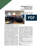 Februar 2016 (Newsletter Nr. 77)