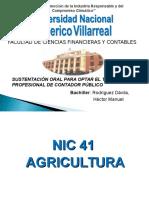 Aplicacion de la NIC 41 - Agricultura