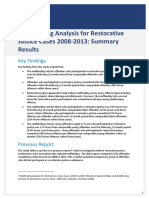 Reoffending Analysis for Restorative Justice Cases 2008-2013 Summary Results