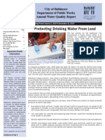 Baltimore DPW releases annual Water Quality Report
