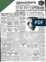 Felipe Ángeles Fusilado 1919 Nov20 28 ElDemocrata FA