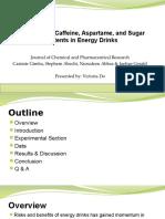 evaluation of caffeine aspartame and sugar