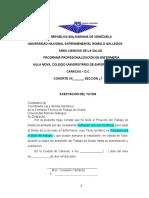 Aceptación Del Tutor Aprobación Del Tutor y Aprobación Del Jurado Unerg