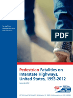 Pedestrian Fatalities on Interstates FINAL FTS FORMAT