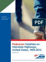 Pedestrian Fatalities on Interstates FINAL FTS FORMAT