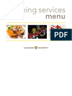 Valparaiso University Dining Services Catering Brochure