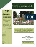 Sand Creek Banquet Planner