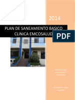 Plan de Saneamiento Basico Clinica Emcosalud 2014