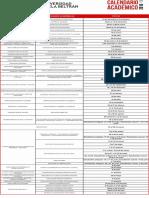 Calendario Academico 2016 I PREGRADOS