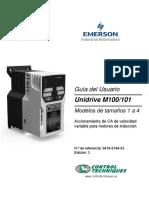 Unidrive M100101 Guia Del Usuario