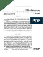 Luhamnn y Economia