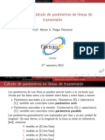 Calculo de parametros de lineas de transmision