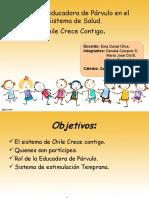 Incorporación de la educadora de párvulos en el Sistema de Salud en Chile.