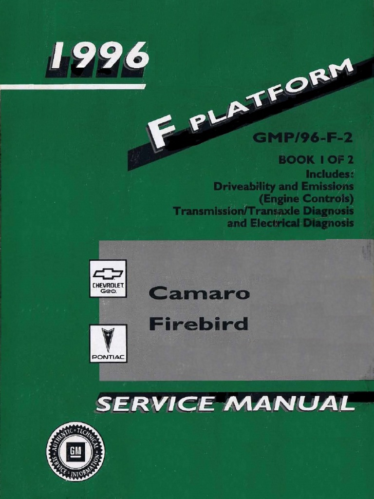 Camaro Printed Circuit Board For Instrument Cluster With Warning 1996 Chevrolet Pontiac Firebird Service Manual Volume 1