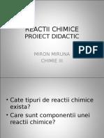 REACTII CHIMICE Miron Miruna Chimie 3