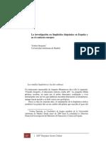 DEMONTE La Investigacion Linguistica en Espña y