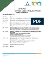 AGENDA FORO DE JÓVENES PROTAGONISTAS DEL CAMBIO CCC 2016