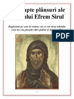 Cele Șapte Plânsuri Ale Sfântului Efrem Sirul