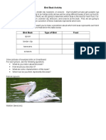bird beak activity