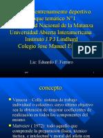 Cátedra de Teoría Del Entrenamiento Deportivo