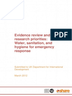 evidence review  wash for emergency response march 2012