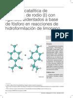 Hidroformilacion de Limoneno