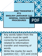 Presentation PT3 marking procedures